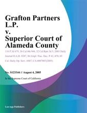 Grafton Partners L.P. V. Superior Court Of Alameda County