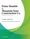 Eloise Humble V Mountain State Construction Co