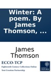 Winter A Poem By James Thomson