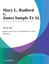 Mary L. Rodford V. James Sample Et Al.