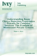 Understanding Buyer Choice/Rejection/Experience Process For Complex Services: The Example Of Montessori Private Schools