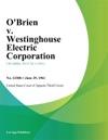 OBrien V Westinghouse Electric Corporation