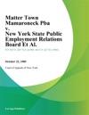 Matter Town Mamaroneck Pba V New York State Public Employment Relations Board Et Al