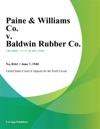 Paine  Williams Co V Baldwin Rubber Co