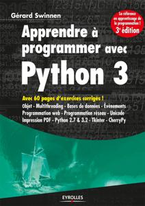 Apprendre à programmer avec Python 3 La couverture du livre martien