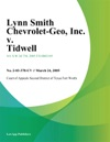 Lynn Smith Chevrolet-Geo Inc V Tidwell