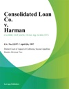 Consolidated Loan Co V Harman