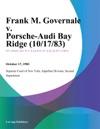 Frank M Governale V Porsche-Audi Bay Ridge