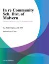 In Re Community Sch Dist Of Malvern