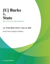 Download and Read Online Burks v. State