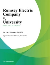 Rumsey Electric Company V. University
