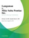 Langaman V Mike Salta Pontiac Inc