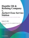 Humble Oil  Refining Company V Jaybert Esso Service Station