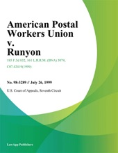 American Postal Workers Union V. Runyon