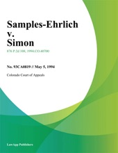 Samples-Ehrlich V. Simon