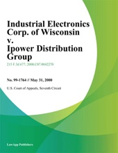Industrial Electronics Corp. of Wisconsin v. Ipower Distribution Group