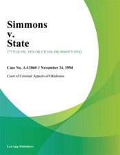 Download and Read Online Simmons v. State