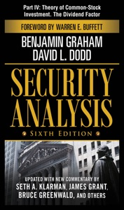Security Analysis, Sixth Edition, Part IV - Theory of Common-Stock Investment. The Dividend Factor