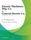 Electric Machinery Mfg Co V General Electric Co