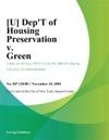 Dept Of Housing Preservation V Green