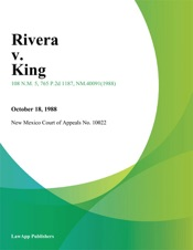 Download and Read Online Rivera V. King
