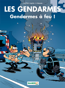 Les Gendarmes - tome 13 - Gendarmes à feu ! La couverture du livre martien