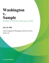 Washington V. Sample