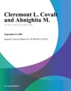 Cleremont L Covalt And Ahnighita M
