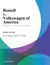 Rossell V Volkswagen Of America