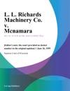 L L Richards Machinery Co V Mcnamara
