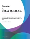 Bonnier V CB  QRR Co
