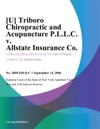 U Triboro Chiropractic And Acupuncture PLLC V Allstate Insurance Co