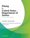 Zhang V United States Department Of Justice
