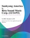 Sunkyong America V Beta Sound Music Corp