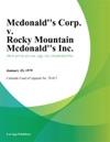 Mcdonalds Corp V Rocky Mountain Mcdonalds Inc
