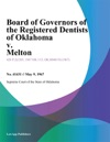 Board Of Governors Of The Registered Dentists Of Oklahoma V Melton