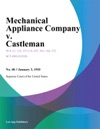 Mechanical Appliance Company V Castleman