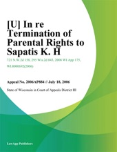 In Re Termination Of Parental Rights To Sapatis K. H.