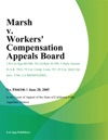 Marsh V Workers Compensation Appeals Board