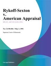Rykoff-Sexton V. American Appraisal