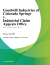 Goodwill Industries Of Colorado Springs V Industrial Claim Appeals Office