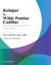 Kolupar V Wilde Pontiac Cadillac