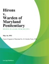 Hirons V Warden Of Maryland Penitentiary