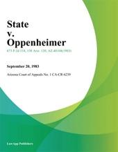 State V. Oppenheimer