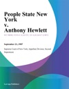 People State New York V Anthony Hewlett