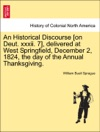 An Historical Discourse On Deut Xxxii 7 Delivered At West Springfield December 2 1824 The Day Of The Annual Thanksgiving