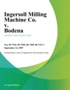 Ingersoll Milling Machine Co V Bodena