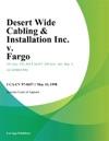 Desert Wide Cabling  Installation Inc V Fargo