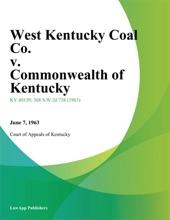 West Kentucky Coal Co. V. Commonwealth Of Kentucky