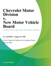 Chevrolet Motor Division V New Motor Vehicle Board